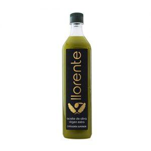 """Pet Bottle Of 1 Liter Of Extra Virgin Olive Oil """"without Filtering"""" """"LLORENTE"""""""