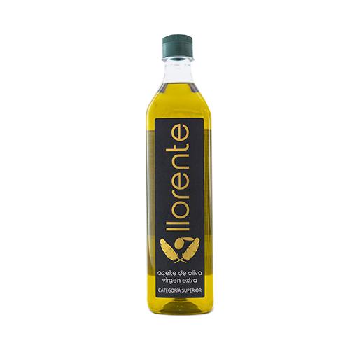 Caja de 12 Botellas Pet 1 litro Aceite de Oliva Virgen Extra marca Llorente, de la prestigiosa Denominación de Origen Baena.