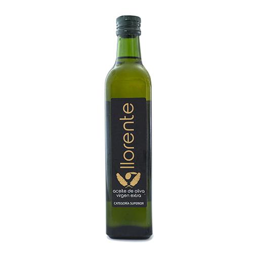 Llorente Aceite Virgen Extra Botella Cristal 0,5 Litros
