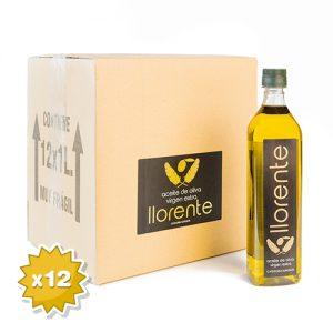 Caja De 12 Botellas Aceite Virgen Extra PET 1 Litro