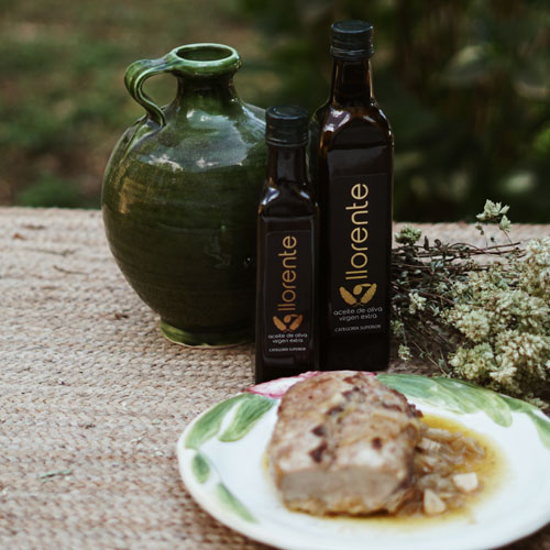 "Glass Bottle Of 0,5 Liters Of Extra Virgin Olive Oil ""LLORENTE"""