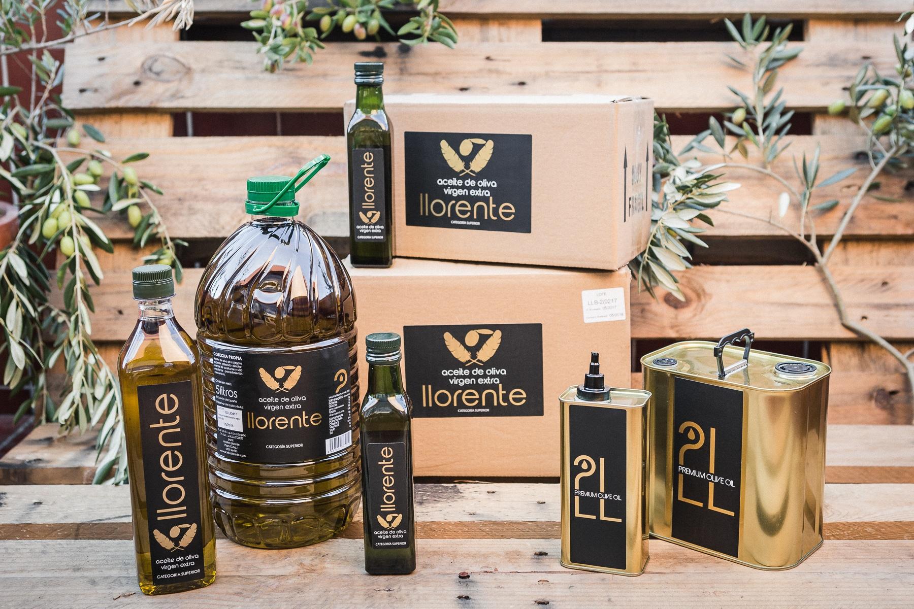 ACEITES LLORENTE_producto gourmet comprar aceite de oliva virgen extra cajas de regalos para empresas
