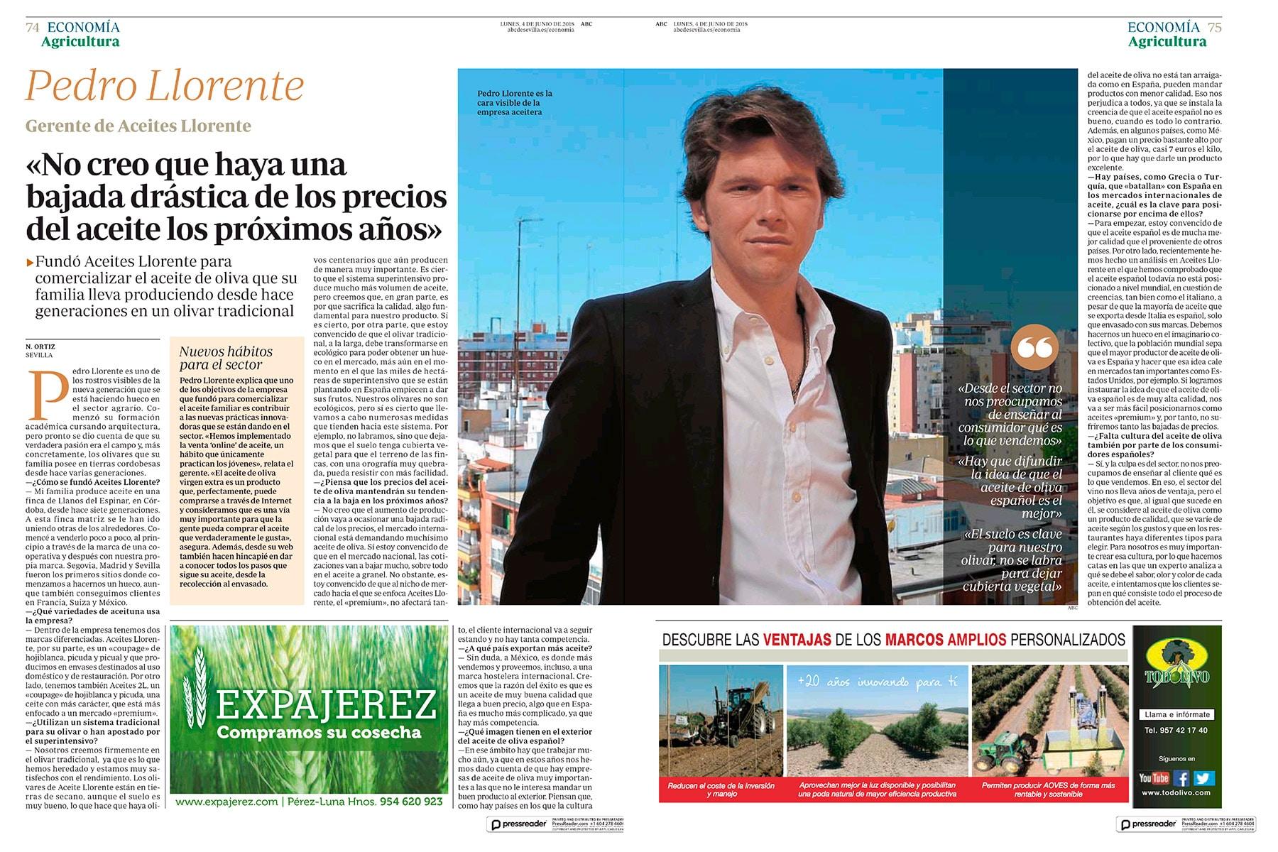 ABC Sevilla Entrevista Pedro Llorente