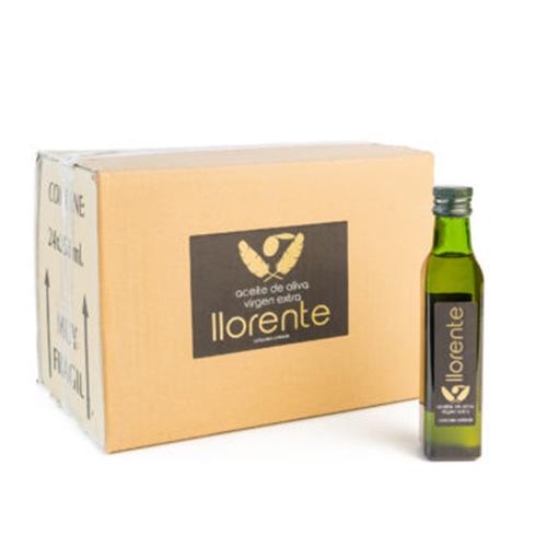 Caja 24 Botellas Cristal 0,25L Aceite De Oliva Virgen Extra